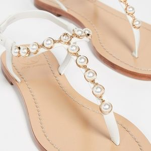 Tory Burch Emmy Pearl Sandals NWT